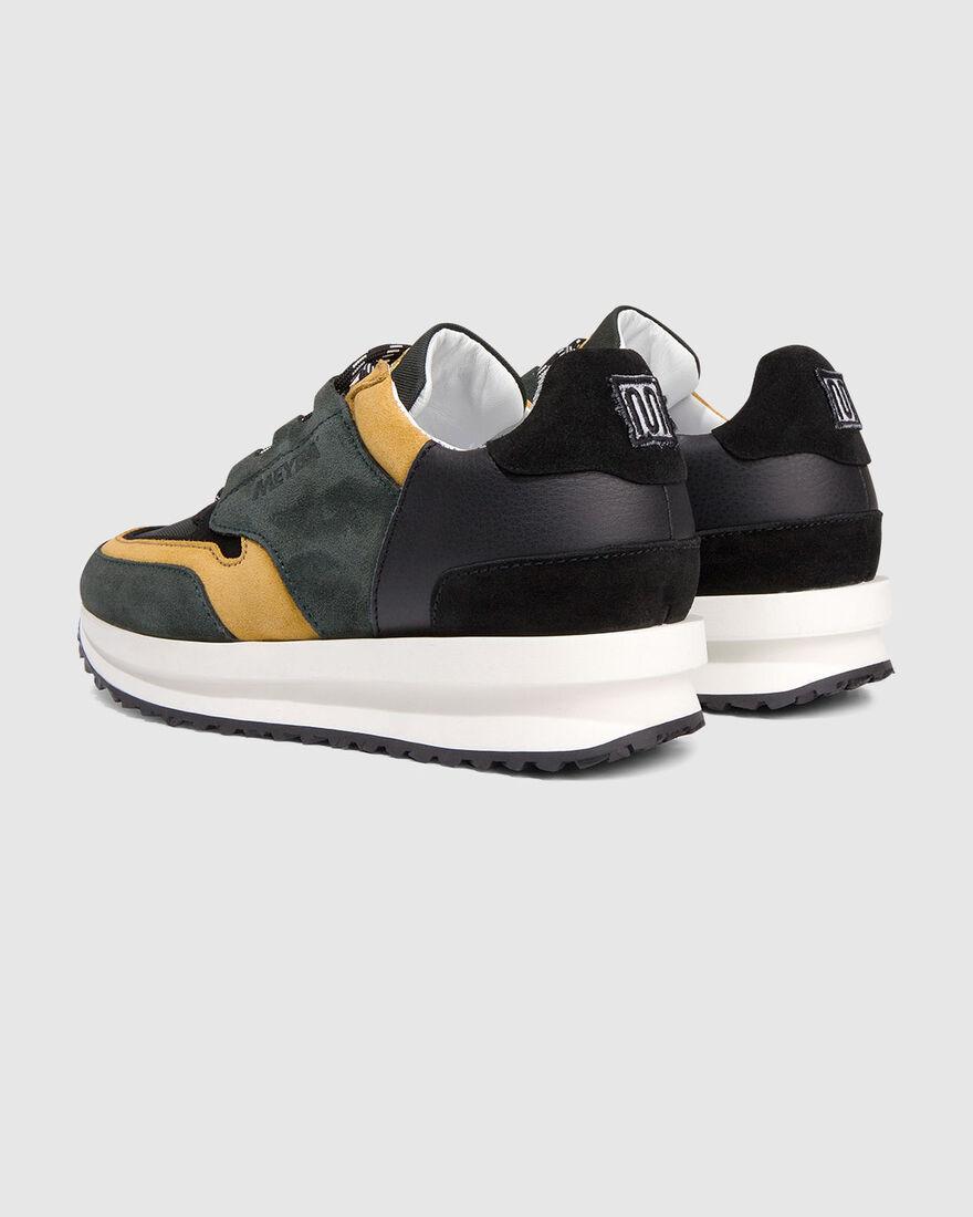 City Runner - Olive/Ochre - Premium Textile/Soft N, Dark green, hi-res