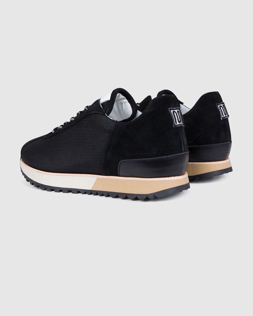 Casual Walk - Navy - Premium Textile/Silk Suede, Black, hi-res