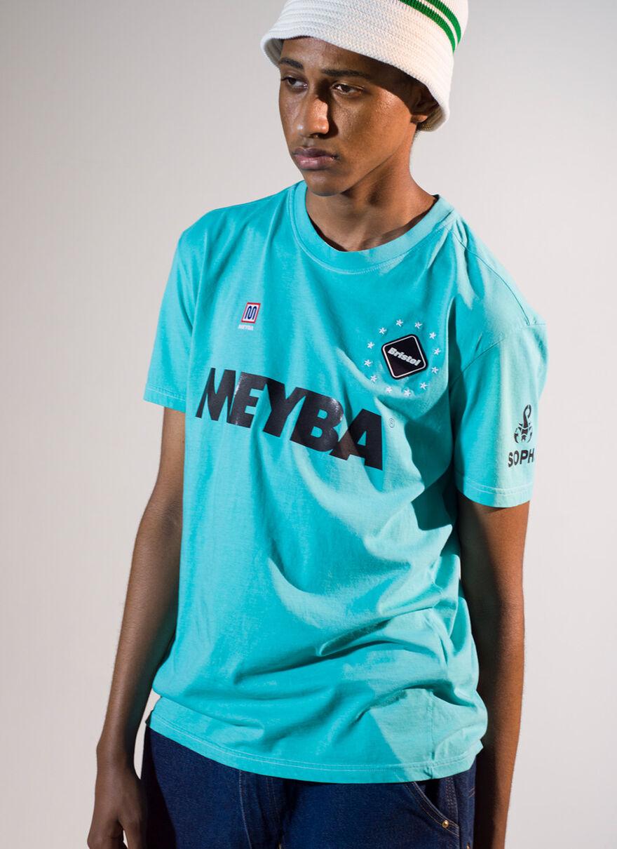 BLACK_MEYBA X FCRB TEE, Blue, hi-res
