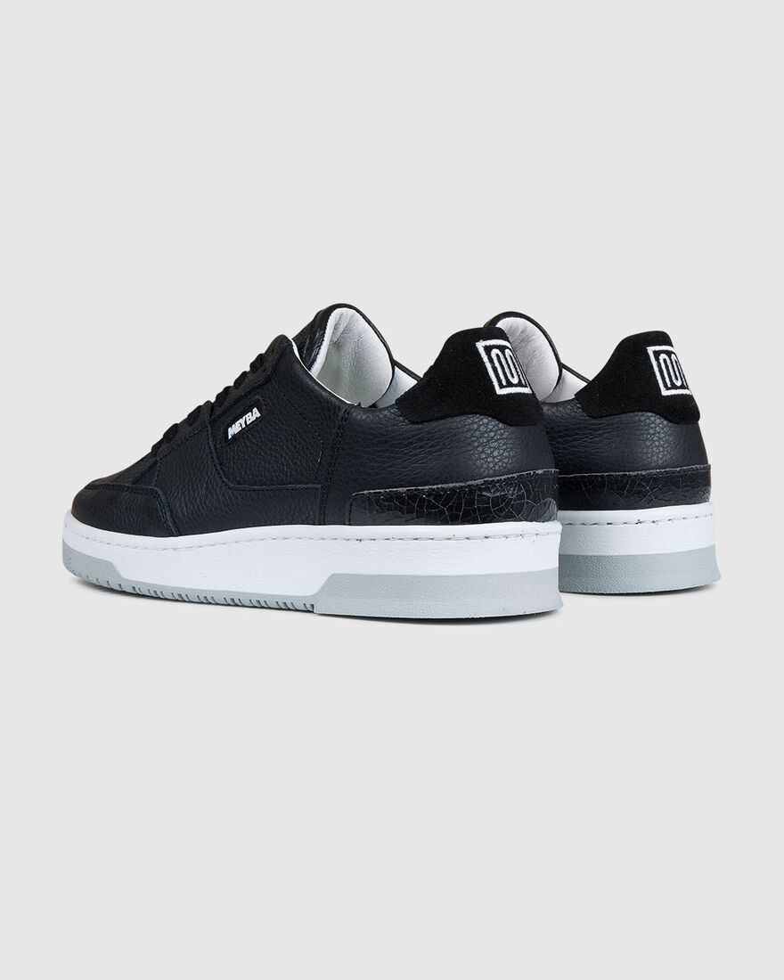 Retro Tennis - Black - Tumbled Leather/Premium Tex, Black, hi-res