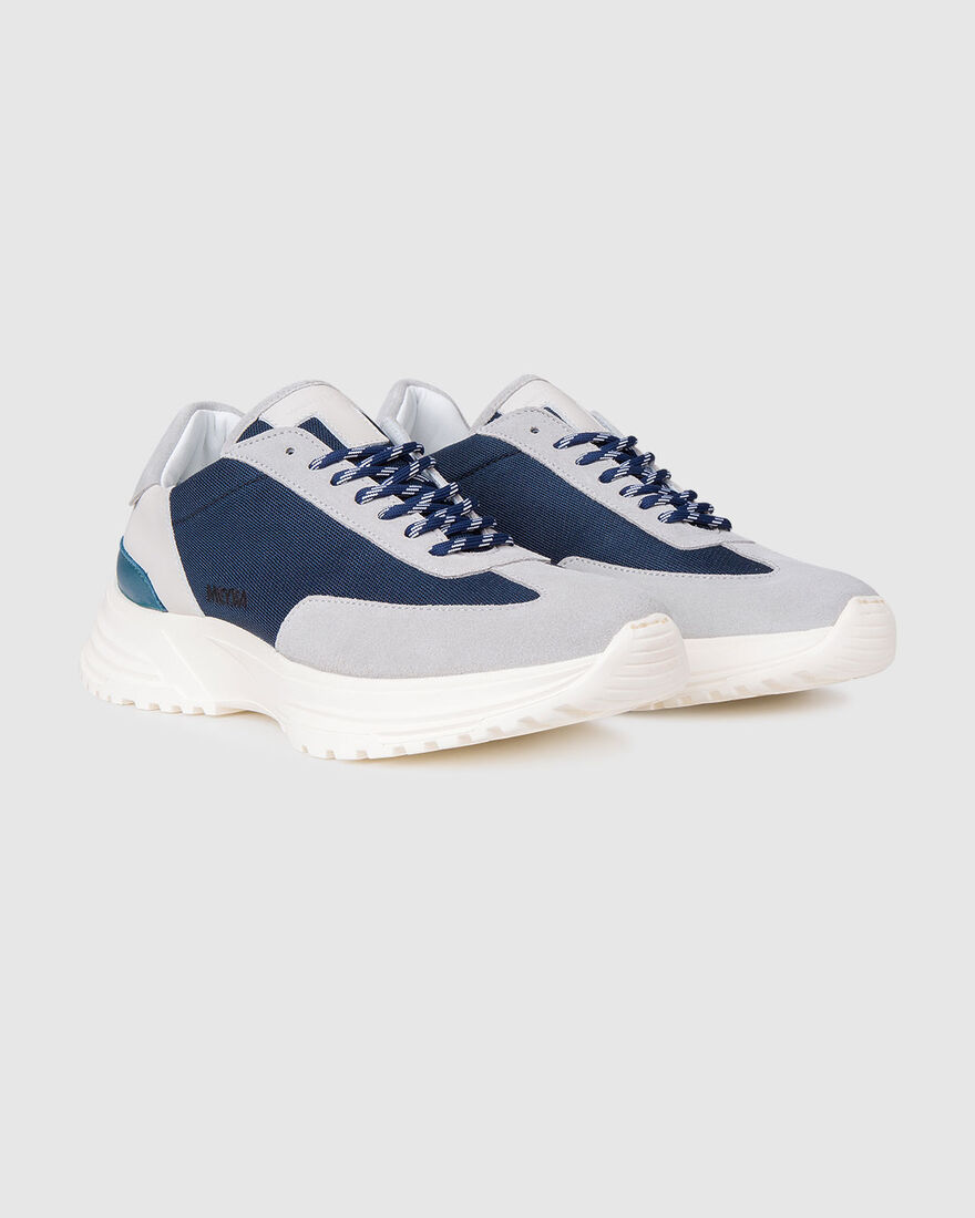 Running Hike - Navy/Grey - Premium Textile/Silk Su, Navy, hi-res