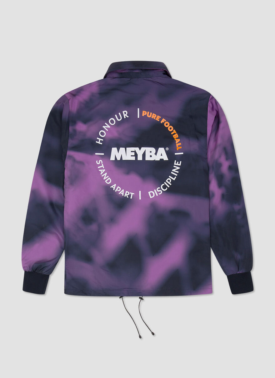 TIE DYE COACH JACKET, Navy, hi-res