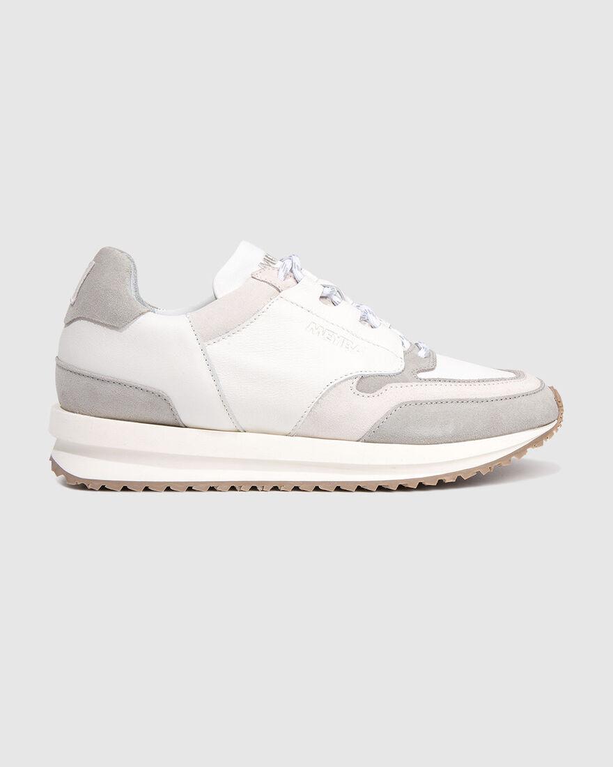 City Runner - White - Premium Textile/Soft Nappa, White, hi-res