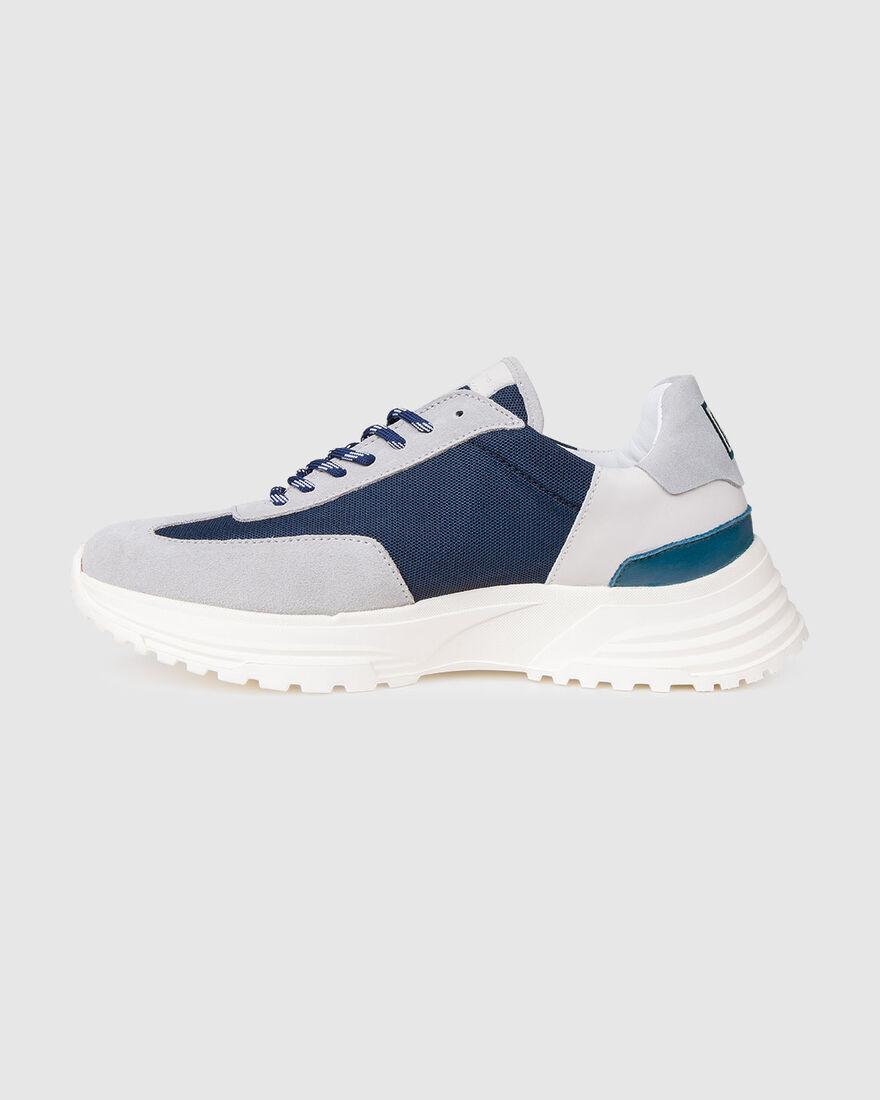 Running Hike - Olive/Cream - Premium Textile/Silk , Navy, hi-res