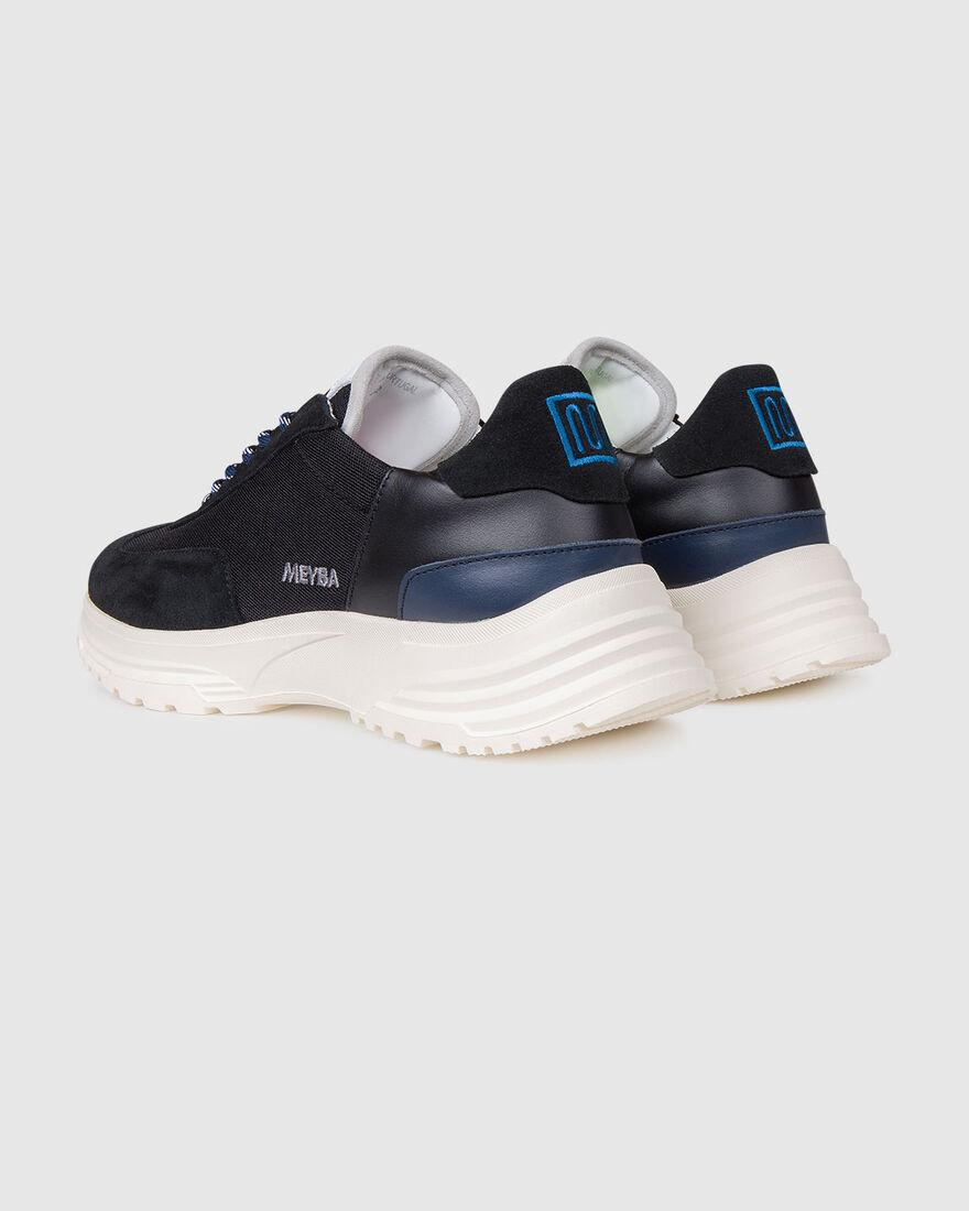 Running Hike - Navy/Grey - Premium Textile/Silk Su, Black, hi-res
