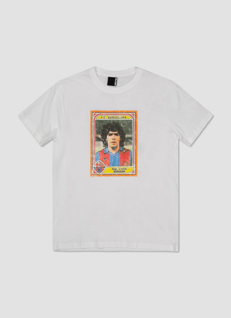 MARADONA PLAYING CARD TEE, White, hi-res