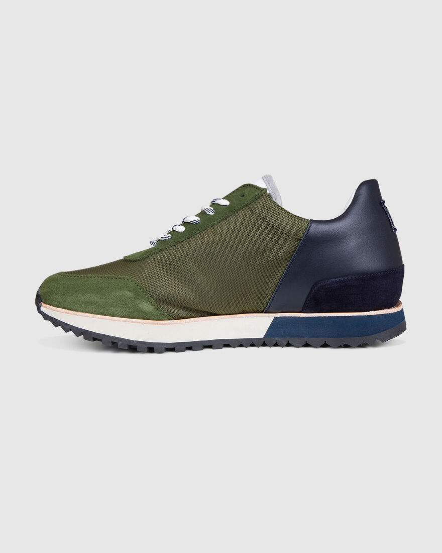 Evening Walk - Navy/Grey - Premium Textile/Silk Su, Green, hi-res