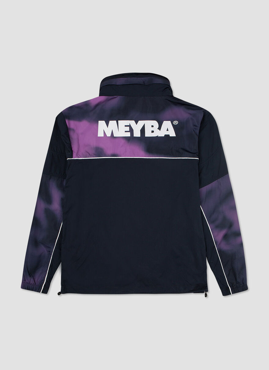 TIE DYE PACKAWAY TRAINING JACKET, Navy, hi-res