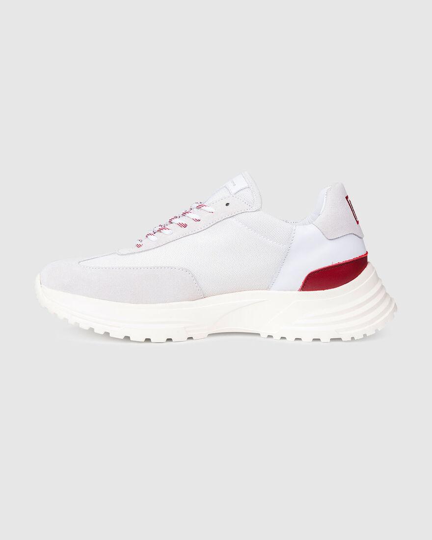 Running Hike - Navy/Grey - Premium Textile/Silk Su, White, hi-res